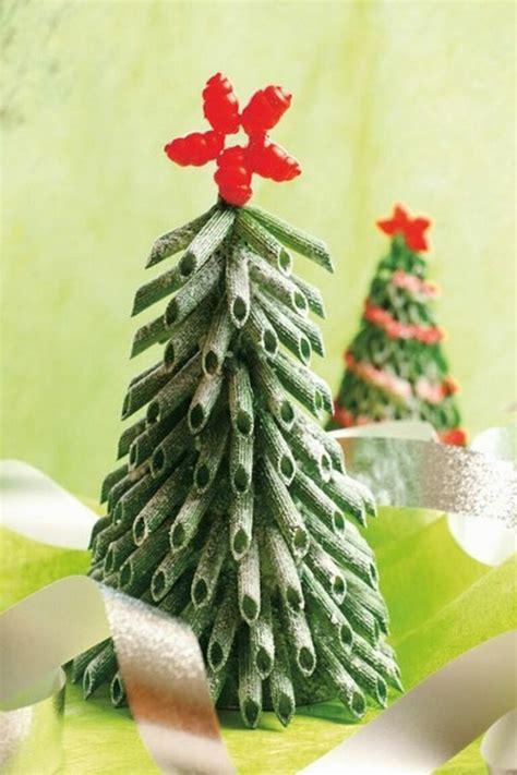 weihnachtsbaum aus gr 252 nen nudeln selber basteln