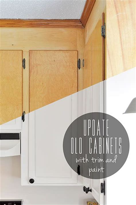 upgrade kitchen cabinet doors update old flat front cabinets by adding trim to the doors