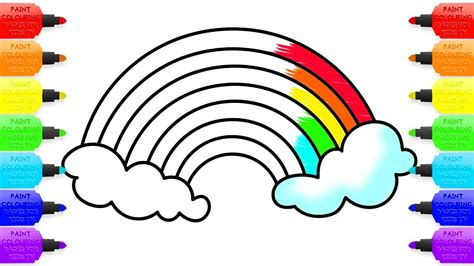 rainbow children the art 1616558334 how to draw rainbow coloring pages for children art colours with colored markers youtube