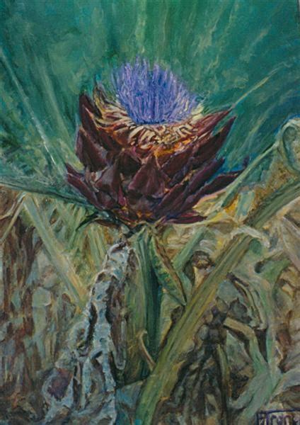 fiore carciofo fiore di carciofo vendita quadro pittura artlynow
