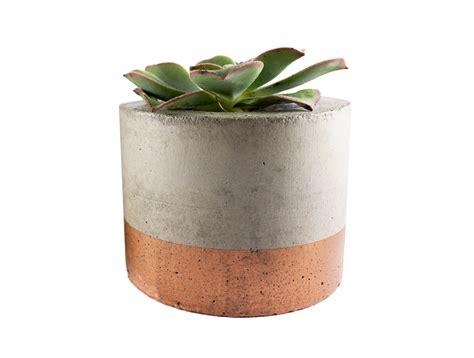 planter pot paint dipped concrete planter pot copper felt