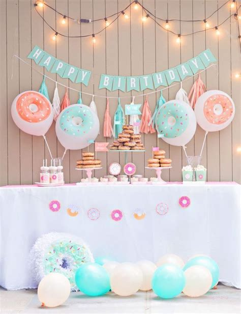 birthday party decoration ideas at home engagement cute 1 st donuts themed birthday party pictures photos and images