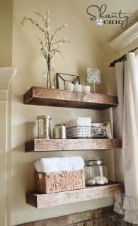 bathroom shelf decorating ideas diy floating shelves reclaimed wood woodguides