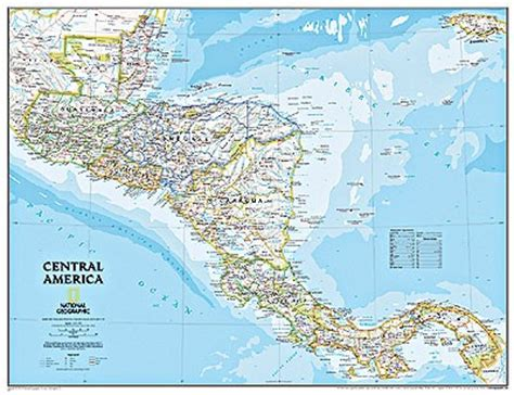 road map central usa central america road maps detailed travel tourist driving