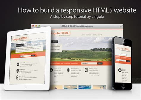 html tutorial lessons how to build a responsive html5 website a step by step
