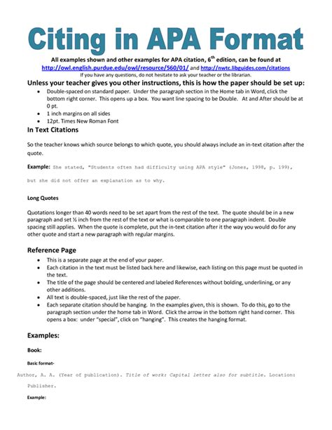 how to cite in apa style quora