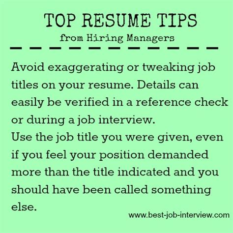 Resume Tips To Avoid Resume Reference Page Exle