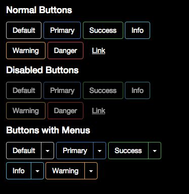 bootstrap themes buttons bootstrap button theme dark cshorde