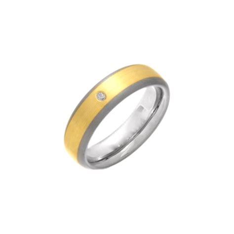 titanium polished wedding ring