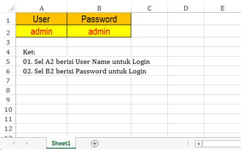 tutorial cara membuat form login di excel cara membuat form login di microsoft excel