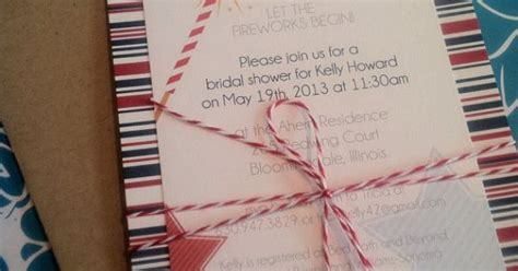 in july wedding shower invitations 4th of july wedding invitation bridal shower invitation
