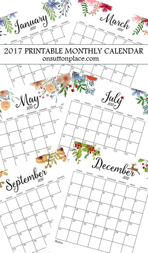 printable yearly calendar planner 2017 free printable monthly calendar free printable