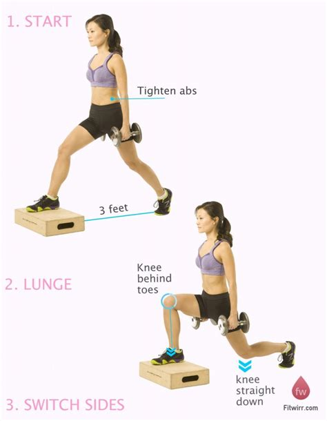 dumbbell bench lunges glute exercises archives reach your peak
