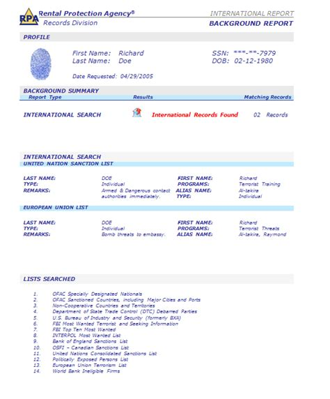 Criminal Record Check Sle Background Check Report Sle 28 Images Background Check Application Template 28