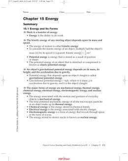 section 15 2 energy conversion and conservation section 15 1 energy and its forms ipls
