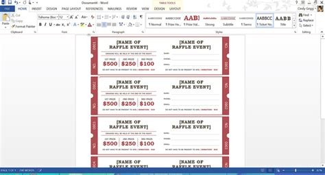 templates for tickets with stubs free summer themed templates from microsoft
