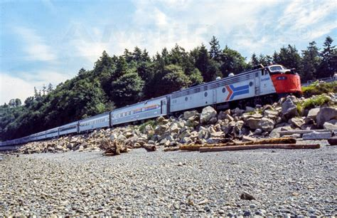 amtrak 1970 s coast starlight daylight led by e9a locomotive no 418