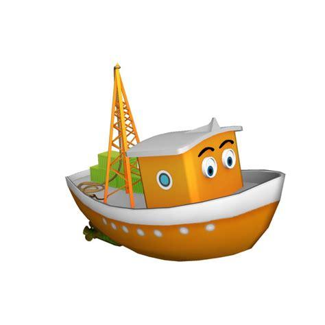 cartoon boat model 3d cargo boat model turbosquid 1224308
