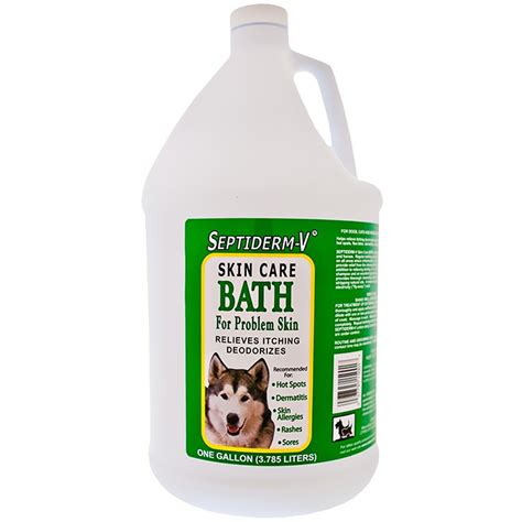 Bathtub Skins by Naturvet Septiderm V Skin Care Bath Gallon