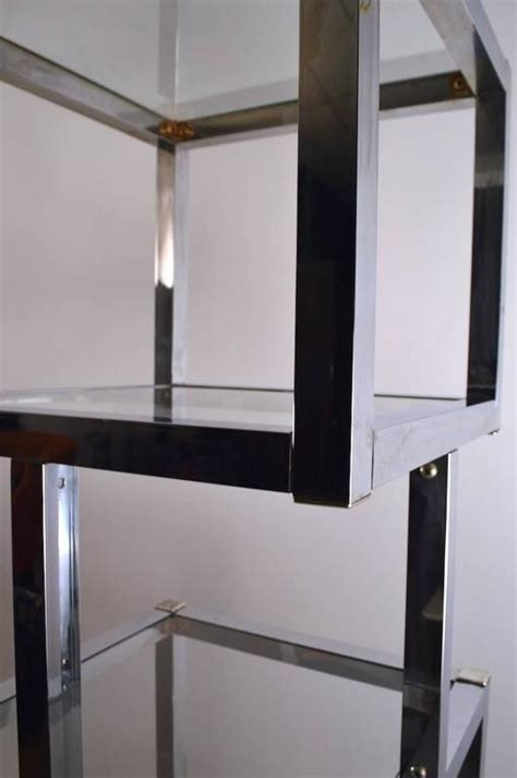 etagere 8 cubes chrome cube form etagere for sale at 1stdibs