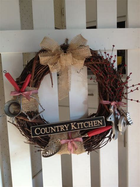 pin by shelly nicely on kitchen pinterest wreath with vintage kitchen utensils i love this idea