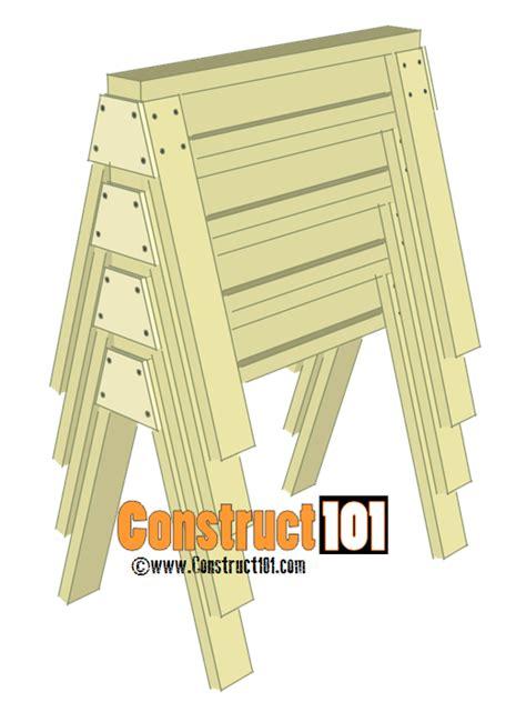 sawhorse plans    construct