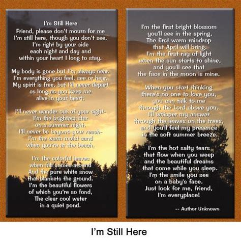 i m still here books quot i m still here quot sympathy remembrance poem healing the