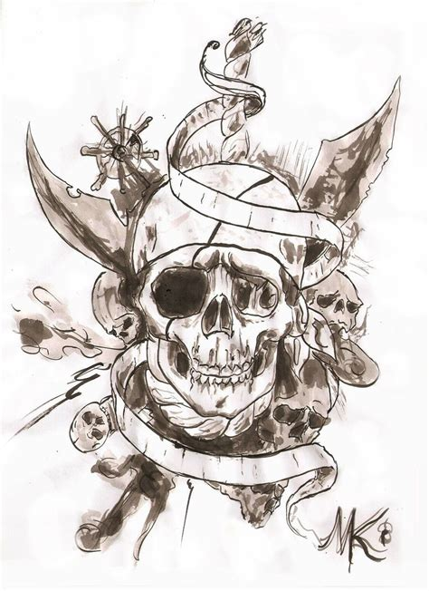 pirate pin up tattoo designs pirate skull design idea with banner pinteres