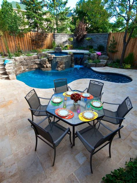 pool ideas for backyards spruce up your small backyard with a swimming pool 19