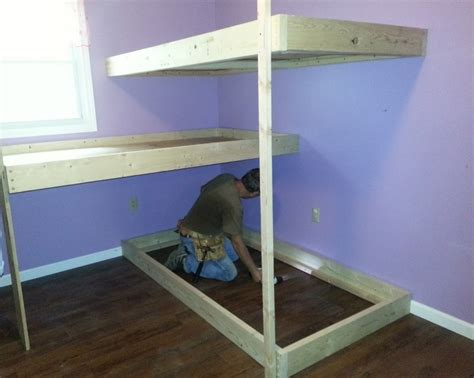 homemade bunk beds diy pallet loft bed plans 2017 2018 best cars reviews