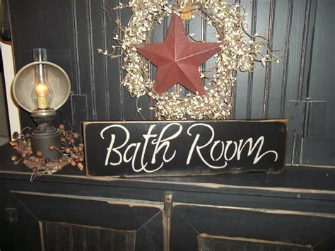 rustic country home decor wood sign quot bath room quot country rustic wall hanging home