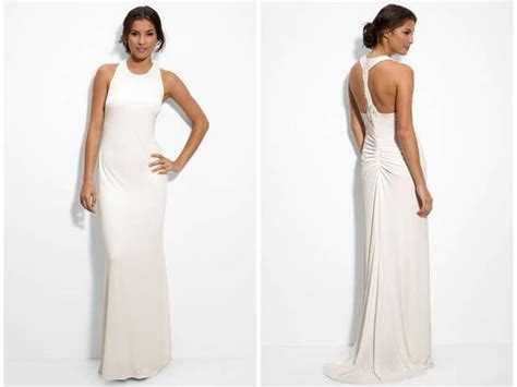 wedding boutiques in new jersey matte jersey column wedding dress with beaded back