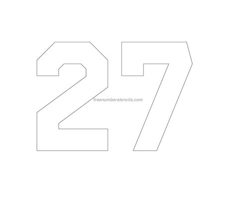 printable jersey numbers free jersey printable 27 number stencil