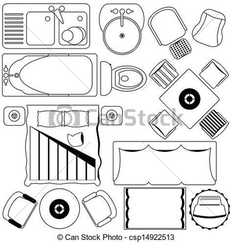 clipart furniture floor plan vector clip of simple furniture floor plan vector