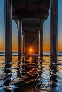Garage Slab Design photo the sunset lined up under scripps pier by evgeny