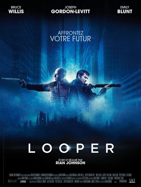 design online movie poster looper 2012 poster freemovieposters net