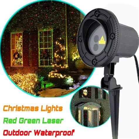 star shower christmas lights battery outdoor laser light show projector rg projection shower for house yard
