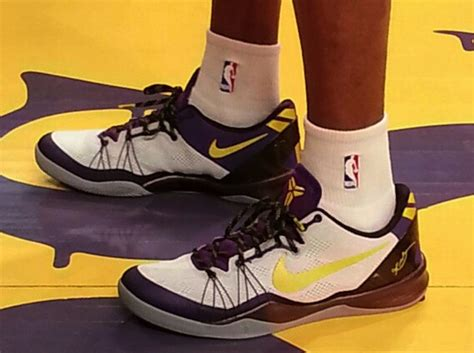 lakers house shoes nike kobe 8 elite quot lakers home quot sneakernews com