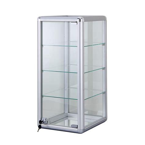 Glas Schiebetür Abschliessbar by Alu Glas Vitrine Mini Vitrine Glas Box Abschlie 223 Bar Mit