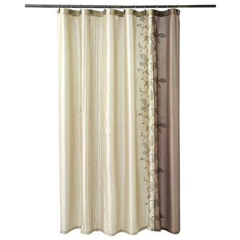 kohls fabric shower curtains kohl s chapel hill landon leaf chagne brown embroidered