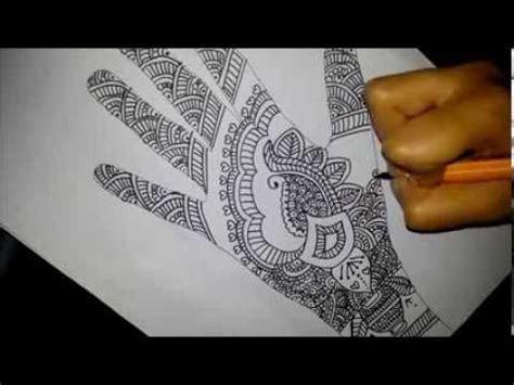 simple indian bridal henna easy full hand mehendi design  paoer youtube