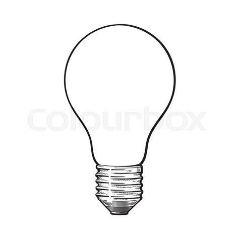 doodle of light matted opaque tungsten light bulb side view sketch