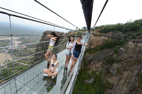 china dares you to cross its glass bridge the verge
