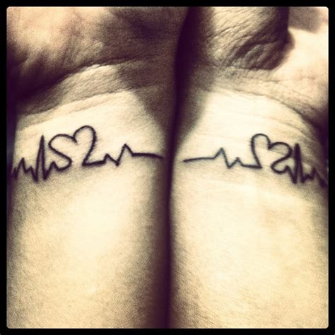 sister heartbeat tattoo 45 fantastic matching wrist tattoos design