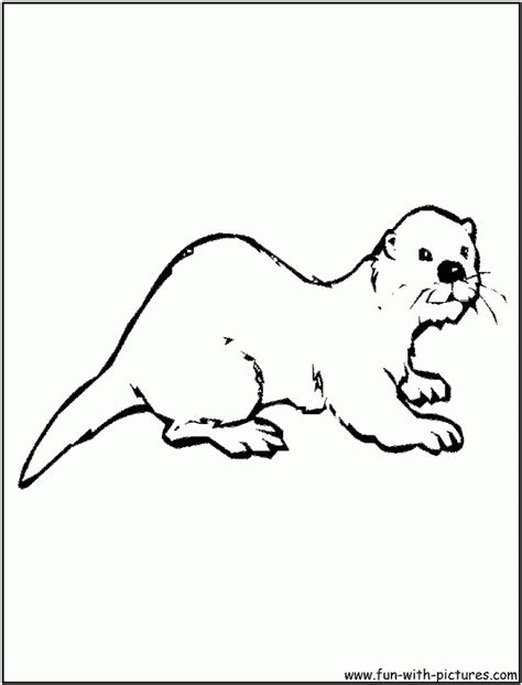 otter coloring page az coloring pages