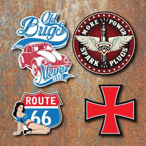 Volkswagen Classic Aufkleber by Beetle Sticker Set Retro Classic Vintage Car Bug Route 66