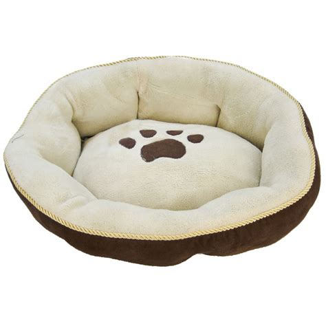 Aspen Pet Round Sculptured Dog Bed Dog Bolsters Loungers