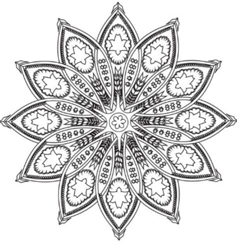 intricate flower coloring page 15 amazingly relaxing free printable mandala coloring
