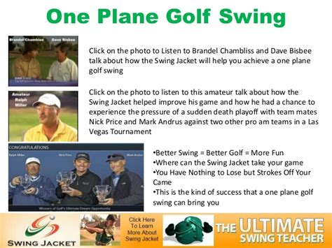 one plane swing one plane golf swing
