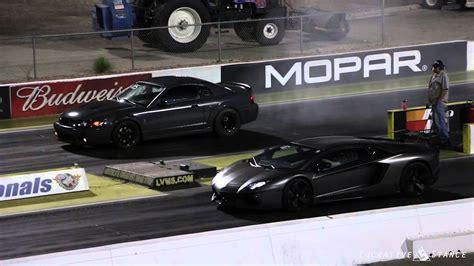 Mustang Vs Lamborghini Lamborghini Aventador Vs Ford Mustang